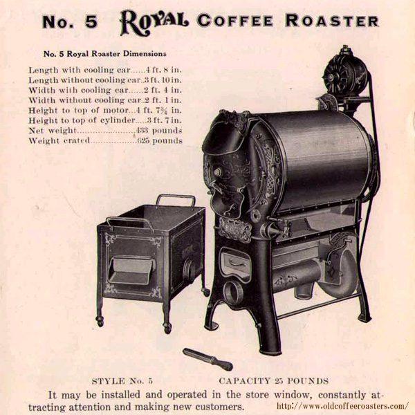 米国製ローヤルコーヒー焙煎機