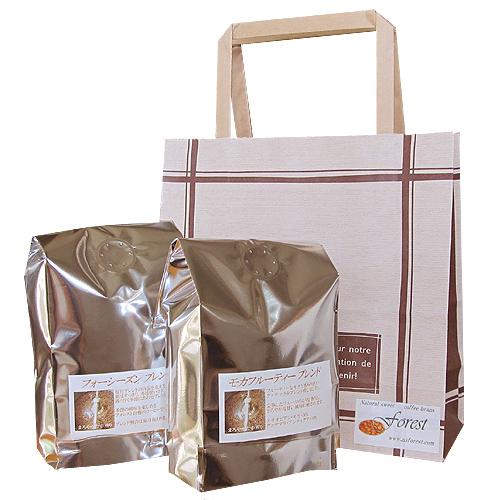カフェ調の手提げ袋(無料ラッピング)