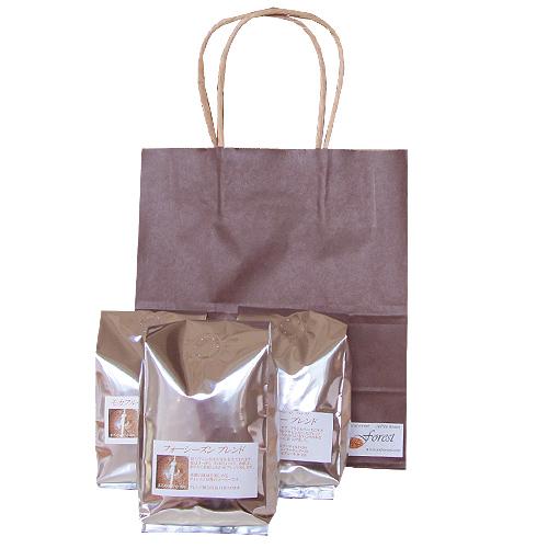 こげ茶の手提げ袋(無料ラッピング)