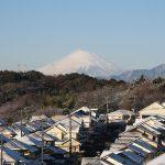 雪景色と富士山