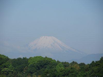 「農鳥」現る、今朝の富士山