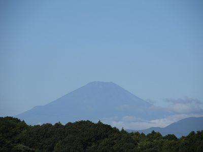 台風一過の富士山画像