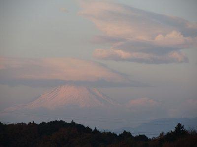 湘南国際マラソンの日の富士山
