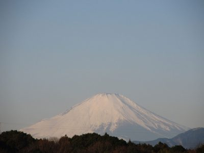 真冬晴れの富士山