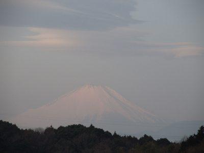 連ちゃん傘雲の富士山