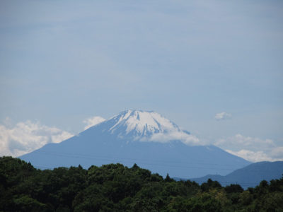 夏富士への脱皮中