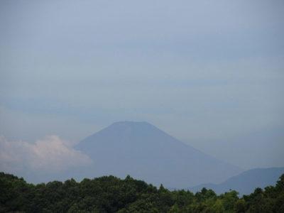 久しぶりに夏富士の姿