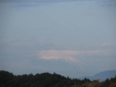 久しぶりに顔を出した富士山は・・・