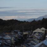 うっすら雪景色と富士山