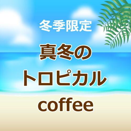 真冬のトロピカルcoffee 浅煎り 1月~