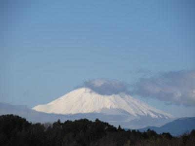 降雪前後の富士山