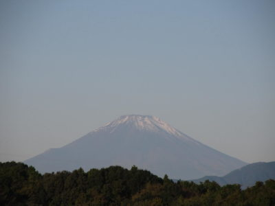 夕方が楽しみ、ハロウィン姿の富士山